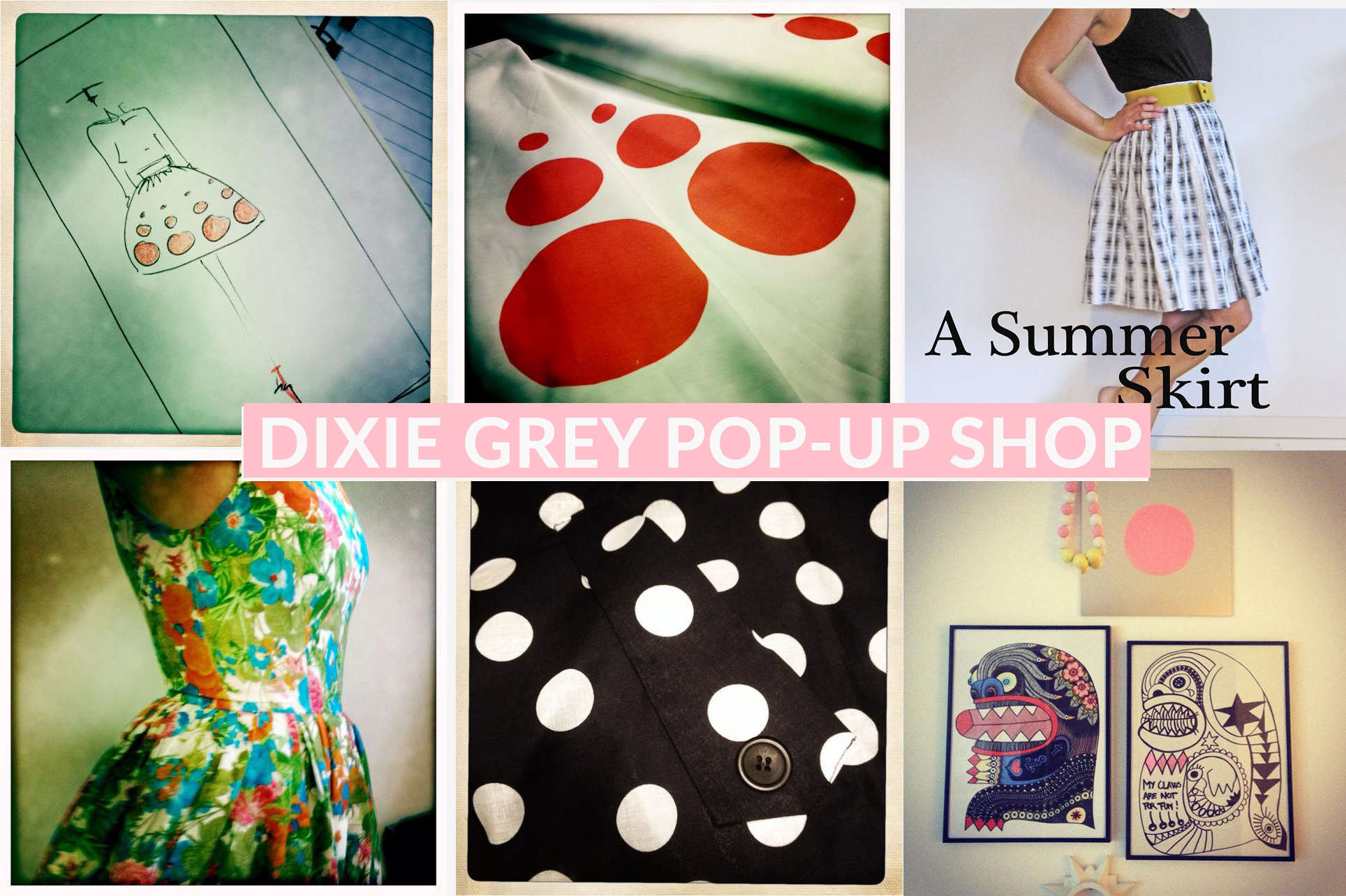 Artists formerly known as Dixie Grey pop-up shop