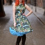 Lady Vintage jaguar print dress og Doris Designs petticoat