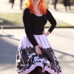 A Unique Vintage carousel skirt and a Sams petticoat