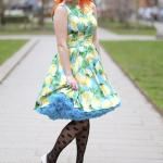 The Lady Vintage lemon print dress