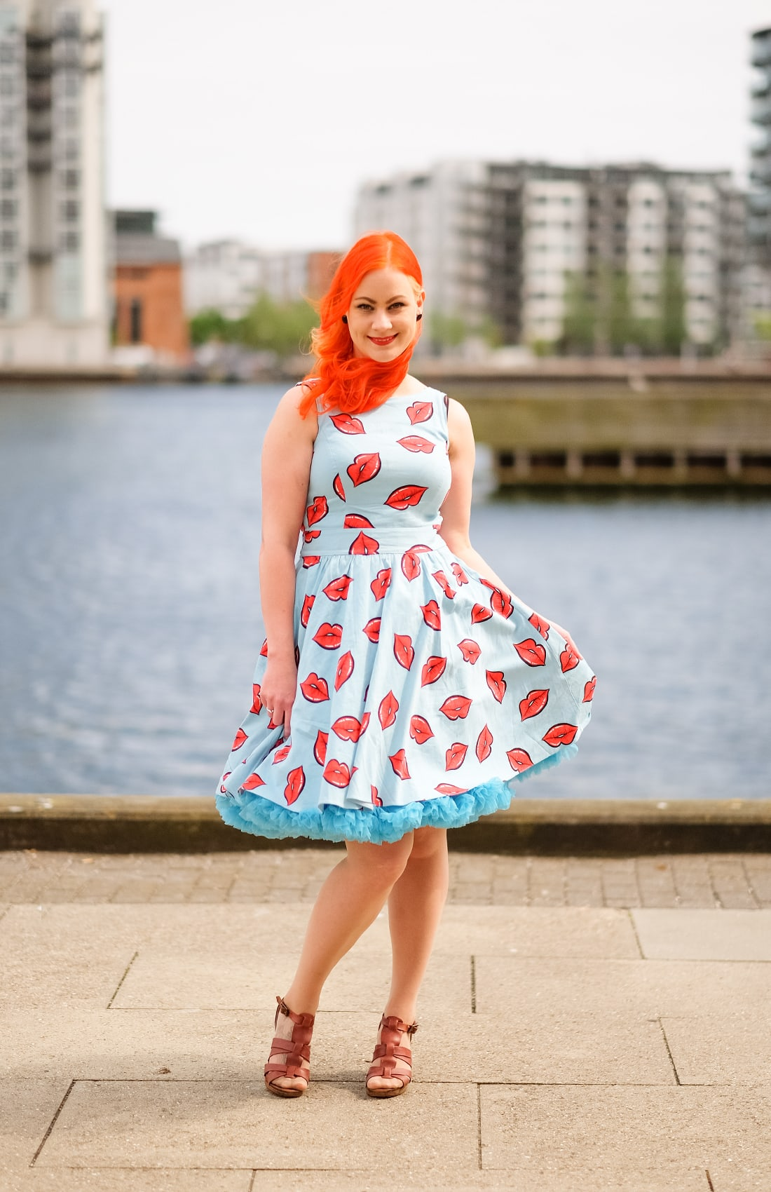 AlexiaDahl.com - A pastel blue petticoat from Banned Apparel and a Lady Vintage dress
