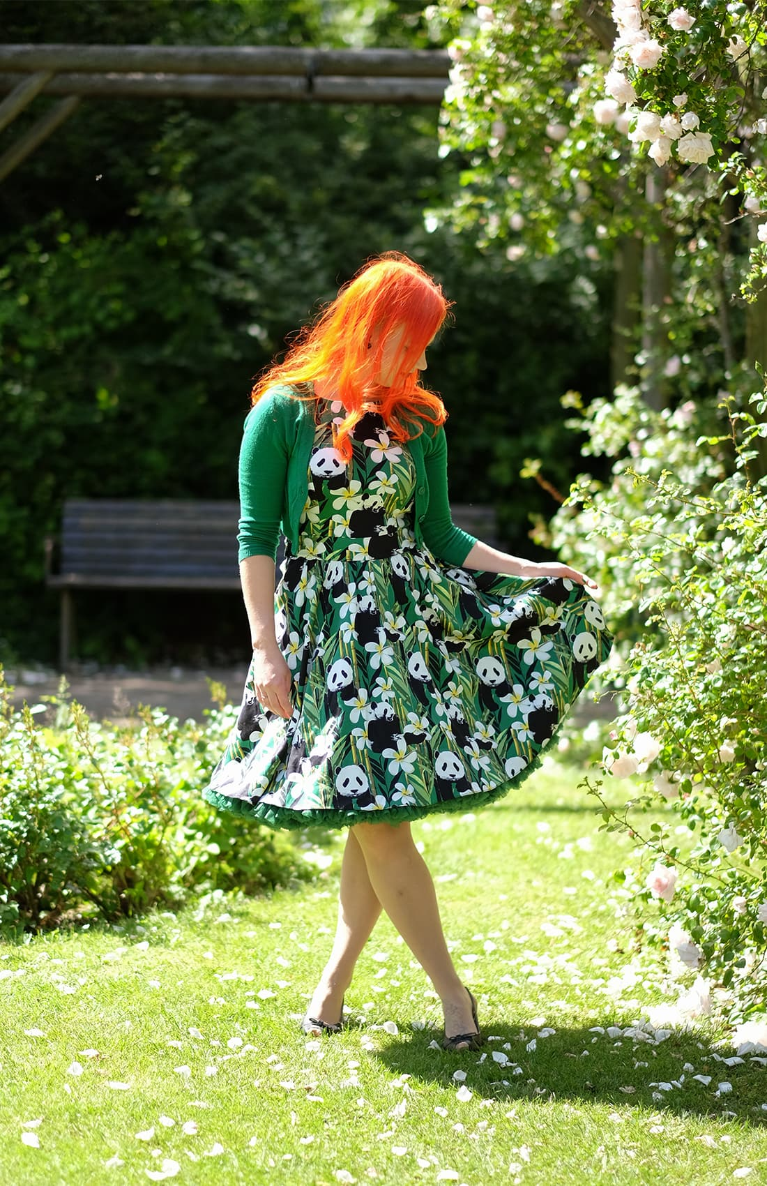 AlexiaDahl.com - A Panda Tea dress from Lady V London and a Malco Modes petticoat