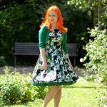A Lady V London Panda tea dress and a green Malco Modes Petticoat