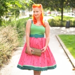 The Collectif Jade watermelon swing dress