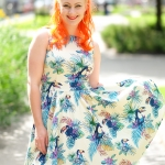 Lady V London The Sunshine Toucan Tea Dress and a Banned Apparel petticoat
