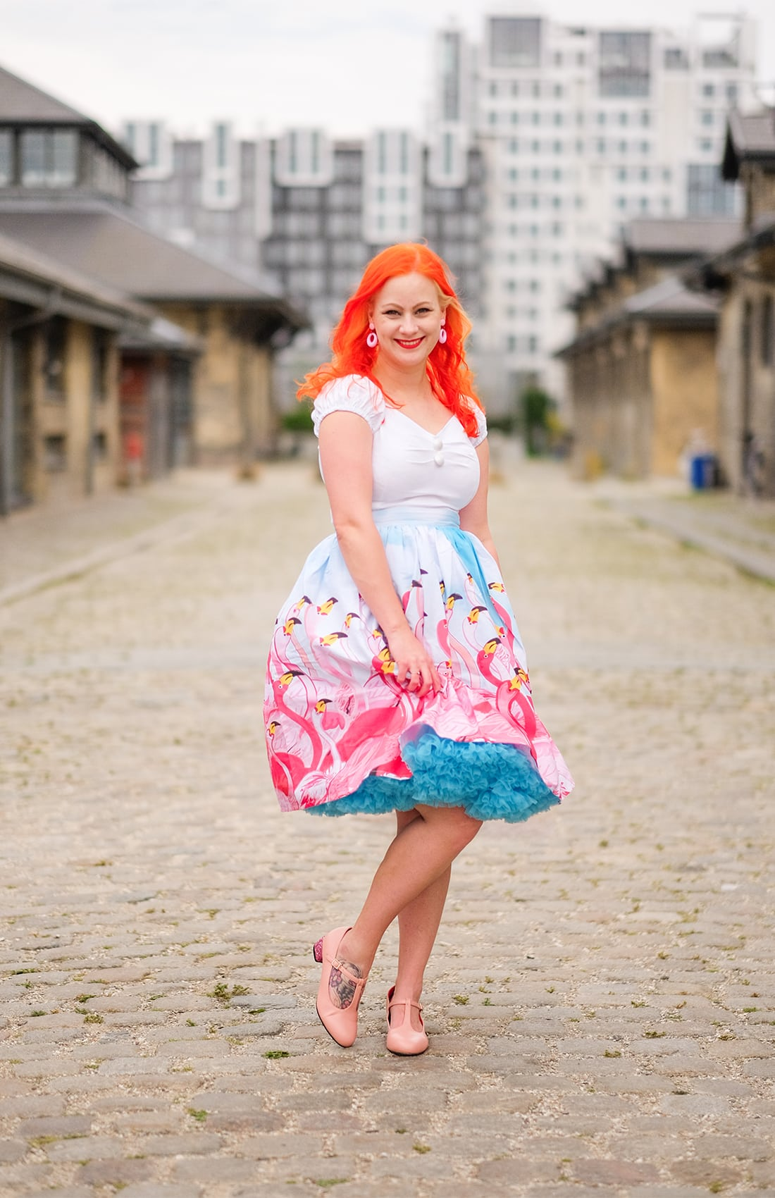 AlexiaDahl.com - Unique Vintage Flamingo Skirt