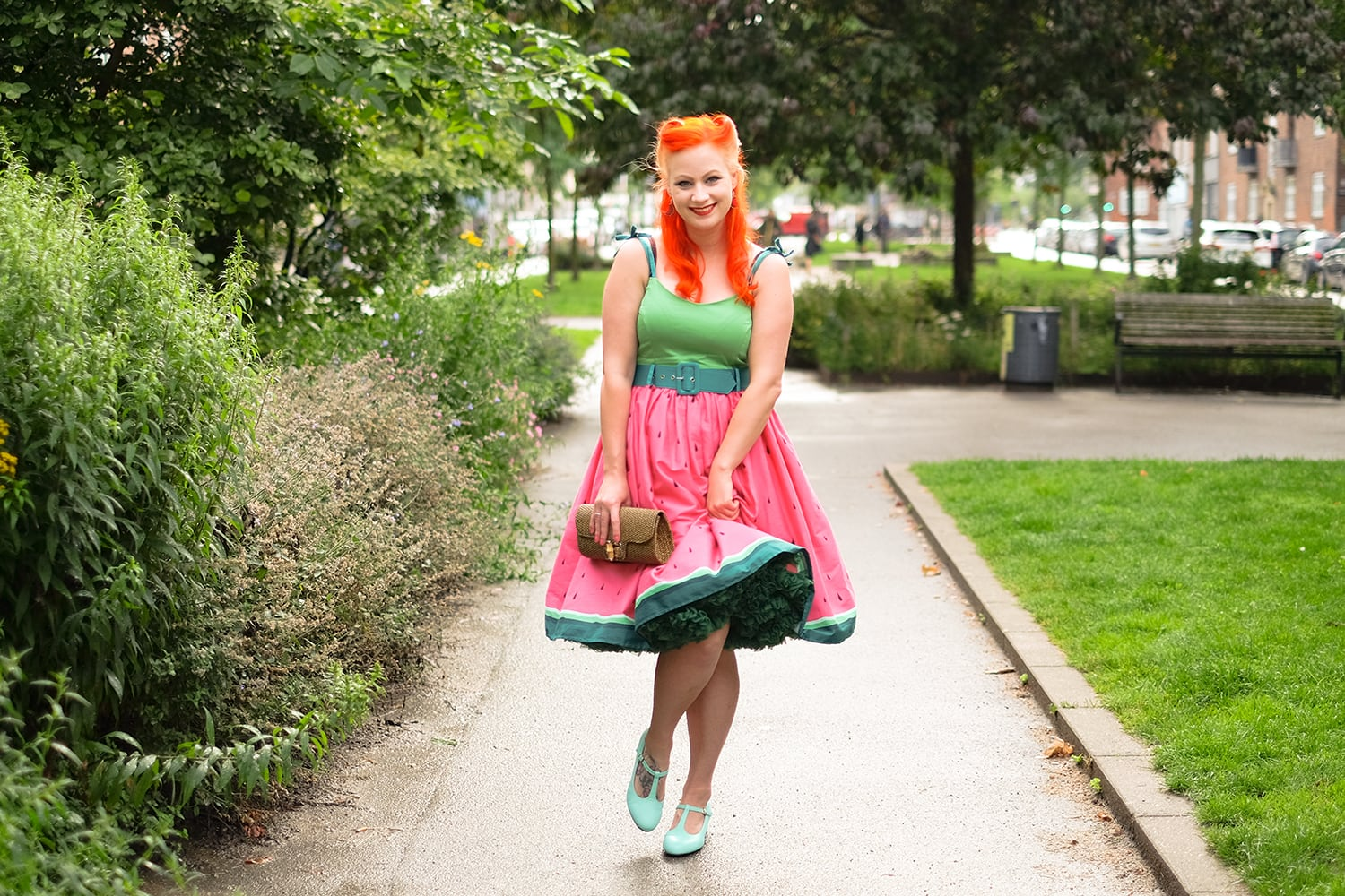 AlexiaDahl.com - Collectif - Jade watermelon swing dress