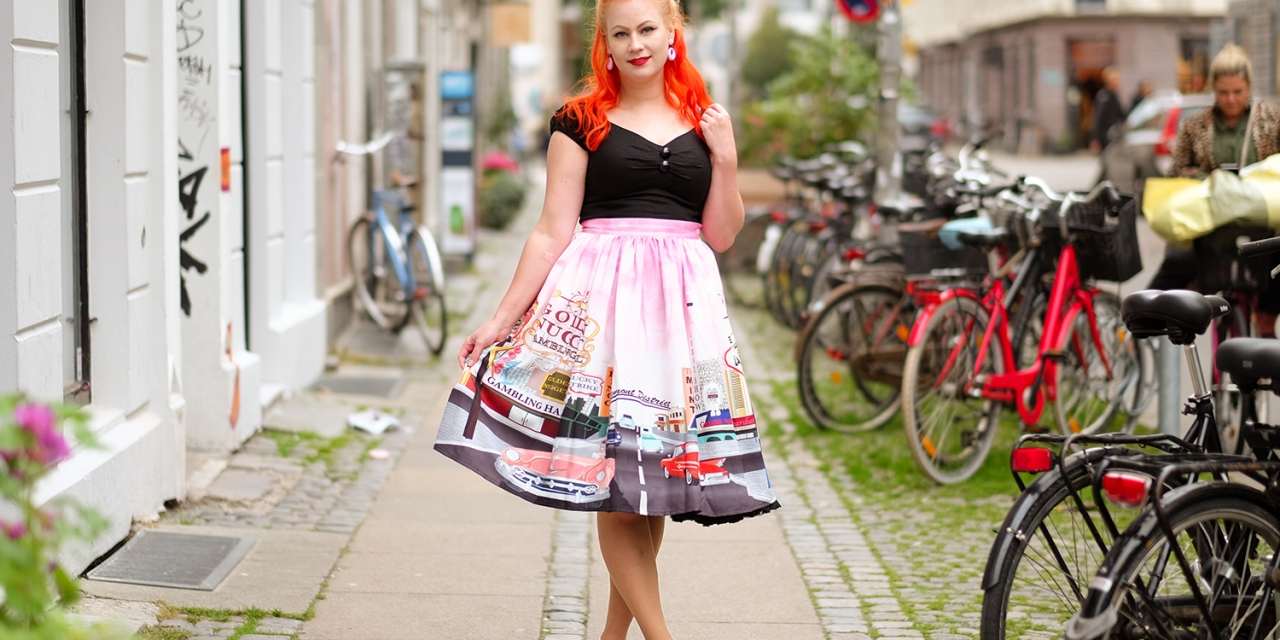 The perfect skirt for a Las Vegas trip! The Unique Vintage Las Vegas skirt