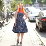 Hi there Halloween season! In a Pinup Couture Jenny Lantern print dress