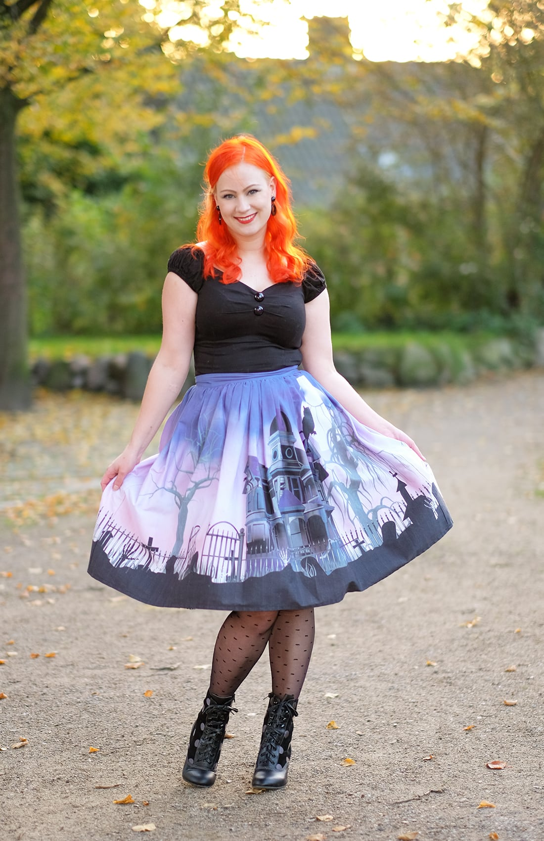 AlexiaDahl.com - Unique Vintage haunted mansion skirt