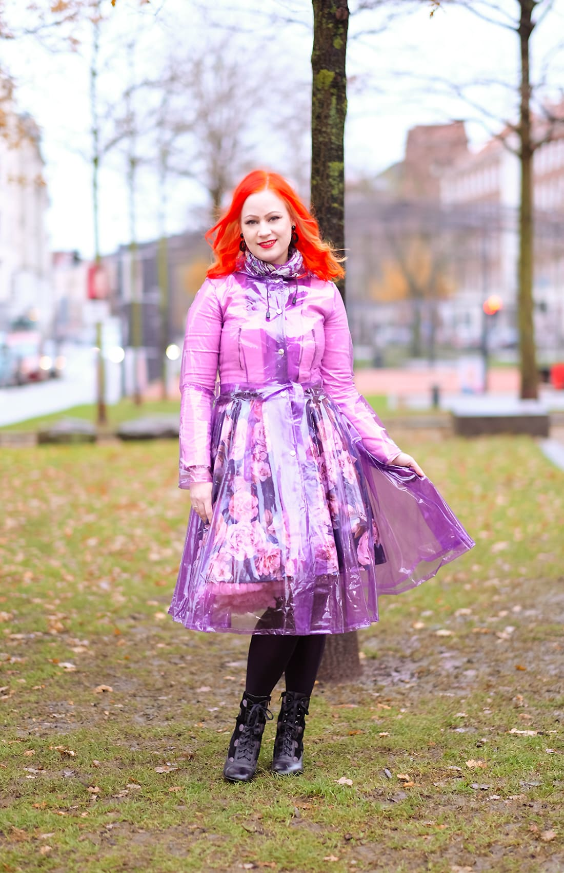 AlexiaDahl.com - Elements Rainwear Rockabilly Raincoat - from Kates clothing