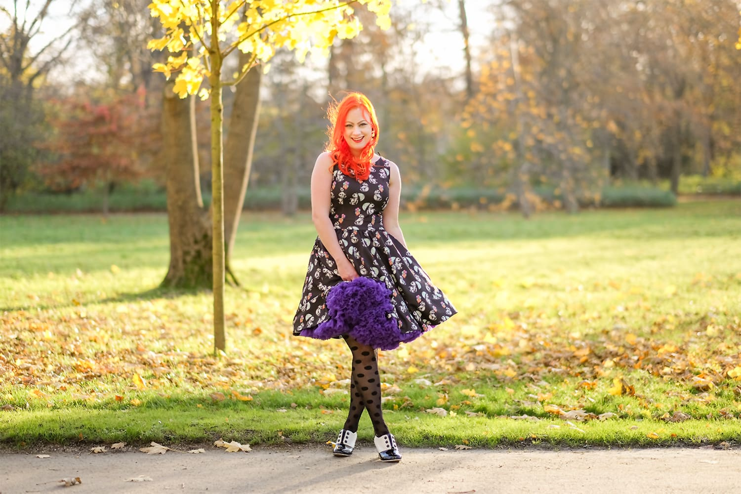AlexiaDahl.com - Lady V London Panda Extravaganza dress and Doris Designs petticoat