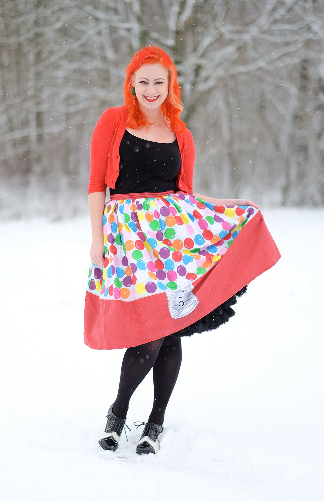 AlexiaDahl.com - Bubblegum skirt from unique Vintage