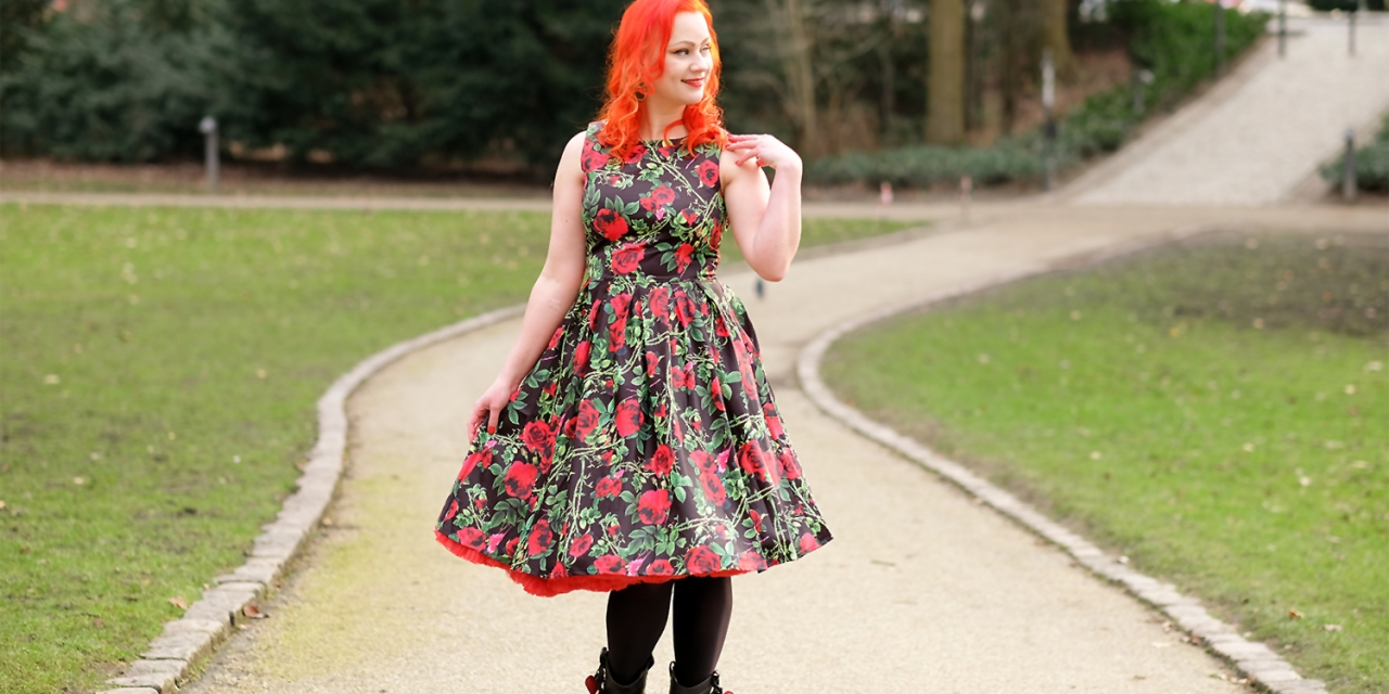 A Dolly and Dotty Annie Rose Thorns Floral dress