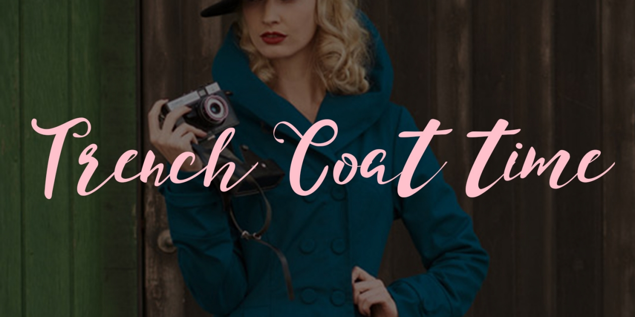 Rockabilly swing trench coats for the spring