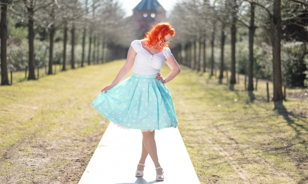 A Collectif top and a Polka dotted Lindy Bop skirt
